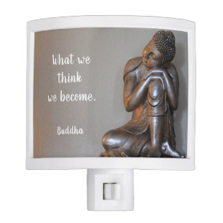 Peaceful Buddha Wisdom Quote Night Lite