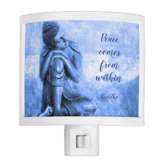 Peaceful Buddha with Mindfulness Quote Nite Lites