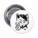 Peaceful Cat Pin