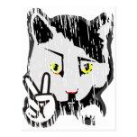 Peaceful Cat Post Card