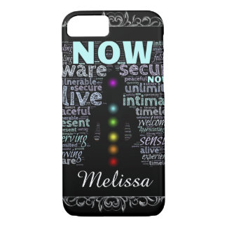 Peaceful Chakra Colors & words designs Custom Case