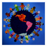 Peaceful Children around the World Print
