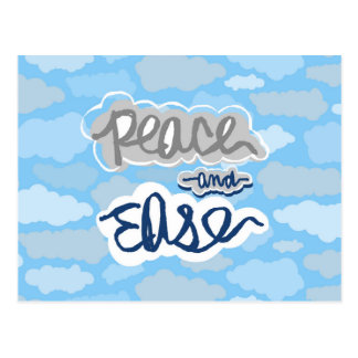 Peaceful Clouds Postcard