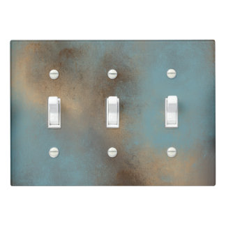Peaceful Color Palette in Teal-Blue and Golds Light Switch Cover