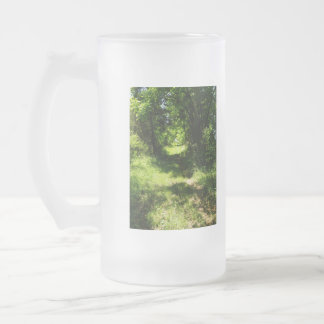 Peaceful Country Pathway Frosted Glass Beer Mug