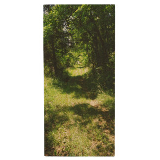 Peaceful Country Pathway Wood USB Flash Drive