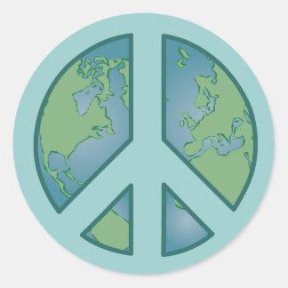 Peaceful Earth Sticker