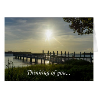 Peaceful Evening At Cooper River Note Card
