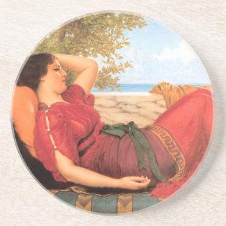 Peaceful Godward Sandstone Drink Coaster