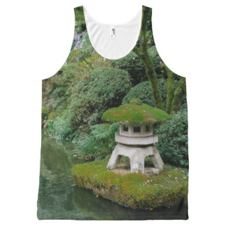 Peaceful Japanese Gardens All-Over-Print Tank Top