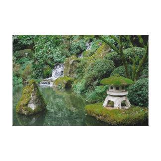 Peaceful Japanese Gardens Canvas Print
