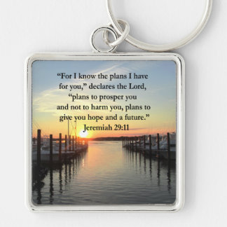 PEACEFUL JEREMIAH 29:11 SUNSET KEYCHAIN