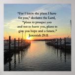 PEACEFUL JEREMIAH 29:11 SUNSET POSTER