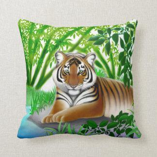 Peaceful Jungle Tiger Pillow