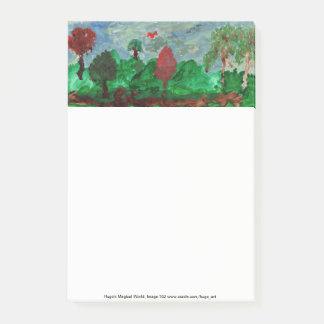 Peaceful landscape post-it notes