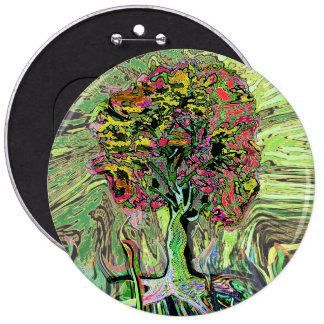 Peaceful Living Tree of Life 6 Inch Round Button