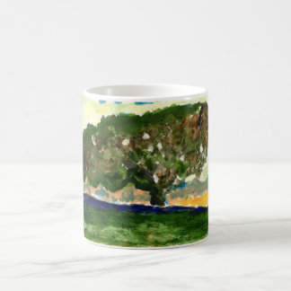 Peaceful lone tree mug