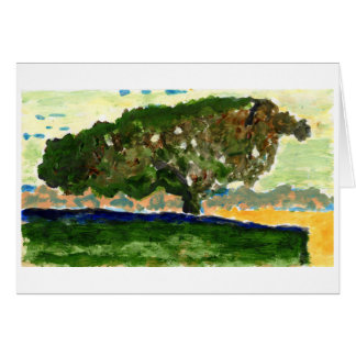 Peaceful lone tree note card