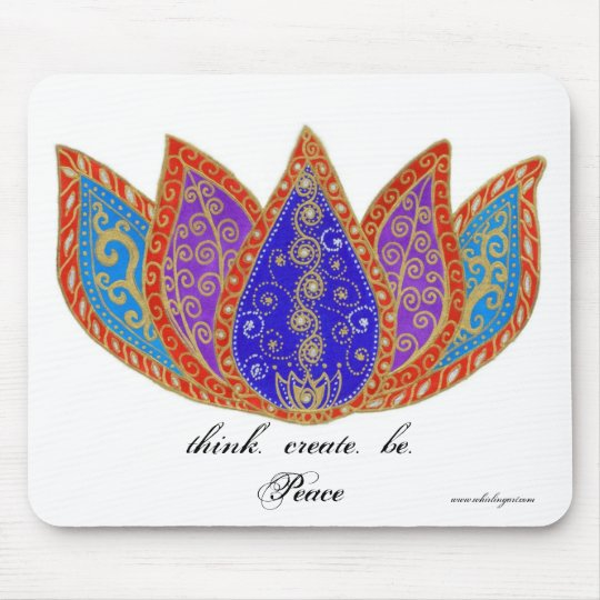 Peaceful Lotus Mouse Pad
