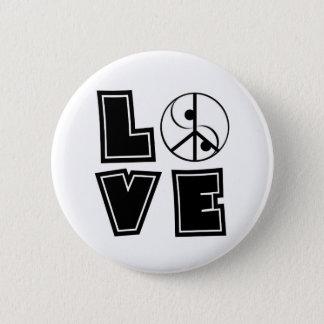 Peaceful Love 2 Inch Round Button