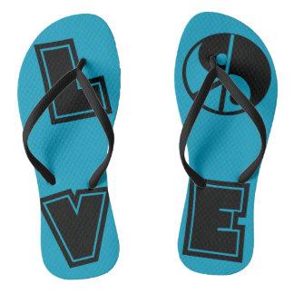 Peaceful Love Flip Flops