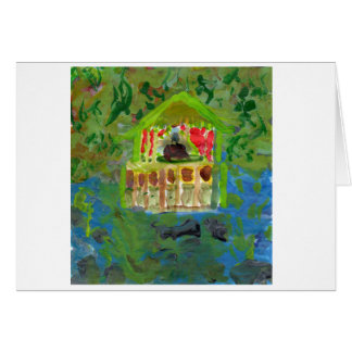 Peaceful mediation pavilion note card