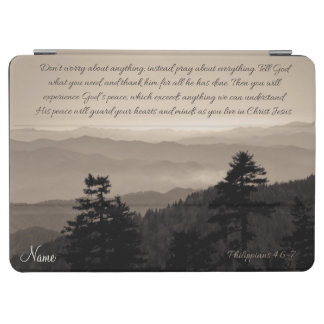Peaceful Mountains Philippians 4:6-7 Bible Verse iPad Air Cover