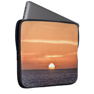 Peaceful Orange Sky Pacific Ocean Sunset Laptop Sleeve