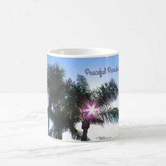Peaceful Paradise Palm Trees Mug