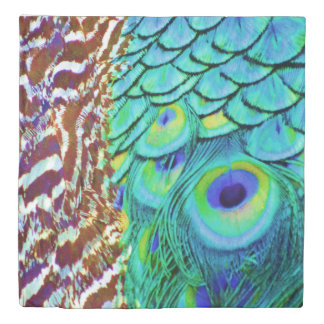 Peaceful Peafowl Flow Duvet Cover