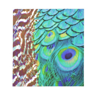 Peaceful Peafowl Flow Notepad