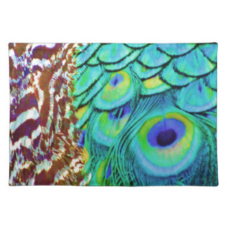 Peaceful Peafowl Flow Placemat