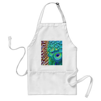Peaceful Peafowl Flow Standard Apron