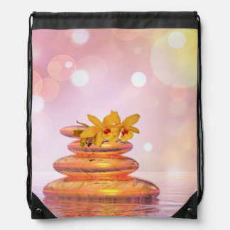 Peaceful pebbles - 3D render Drawstring Bag