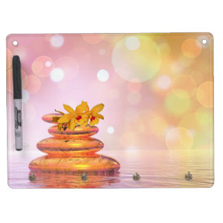 Peaceful pebbles - 3D render Dry Erase Board With Keychain Holder