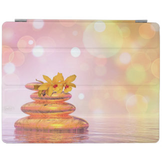 Peaceful pebbles - 3D render iPad Cover