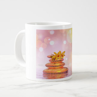 Peaceful pebbles - 3D render Large Coffee Mug