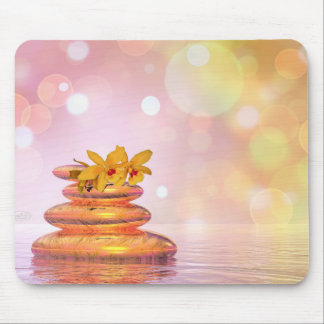Peaceful pebbles - 3D render Mouse Pad