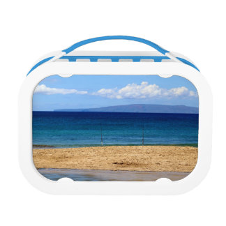 Peaceful picture of fishing rods on a beach, Maui Lunch Box