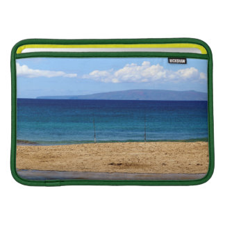 Peaceful picture of fishing rods on a beach, Maui MacBook Sleeve