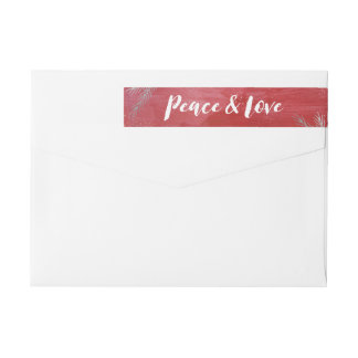 Peaceful Pines Holiday Wrap Around Label