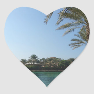 Peaceful Place Heart Sticker