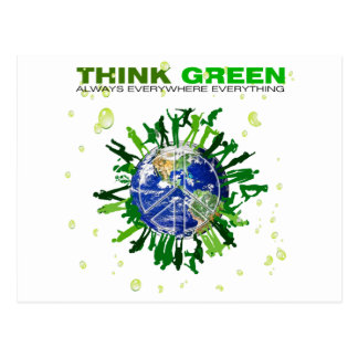 Peaceful Planet: Think Green Postcard