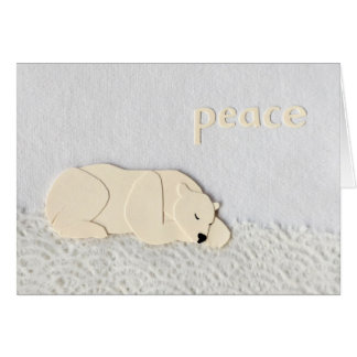 Peaceful Polar Bear in the New Year Card