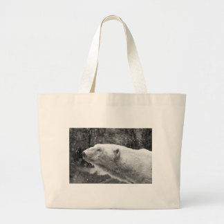 Peaceful Polar Bear Jumbo Tote Bag