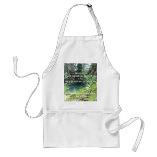 Peaceful Pond bible verse Trees Photography Standard Apron