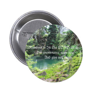 Peaceful Pond Trees bible verse Photo Buttons