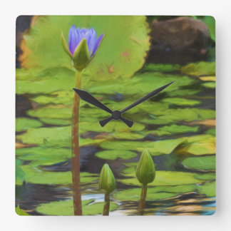 Peaceful Pond- Water Lily Clock