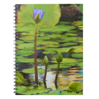 Peaceful Pond Water Lily Notebook