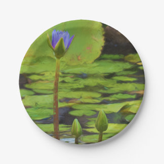 Peaceful Pond- Water Lily Paper Plates